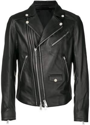 Les Hommes multiple zip biker jacket