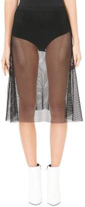 Helmut Lang Black Mesh Overlay Skirt