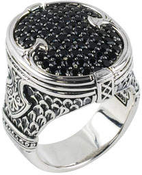 Konstantino Men's Sterling Silver & Pave Spinel Signet Ring