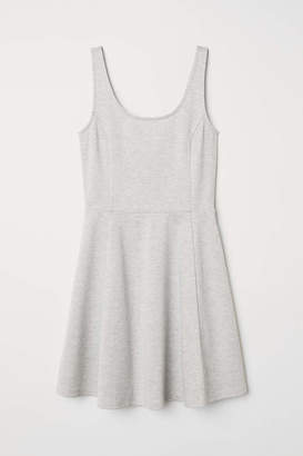 H&M Sleeveless Jersey Dress - White/roses - Women
