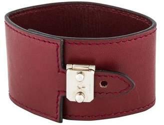 Hermes Leather Las Vegas Lock Bracelet