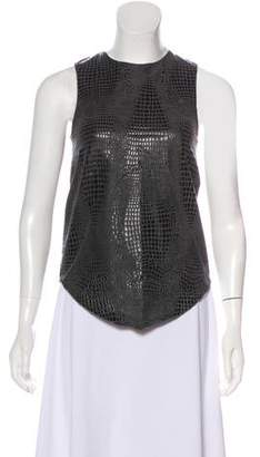Wayne Sleeveless Embossed Top