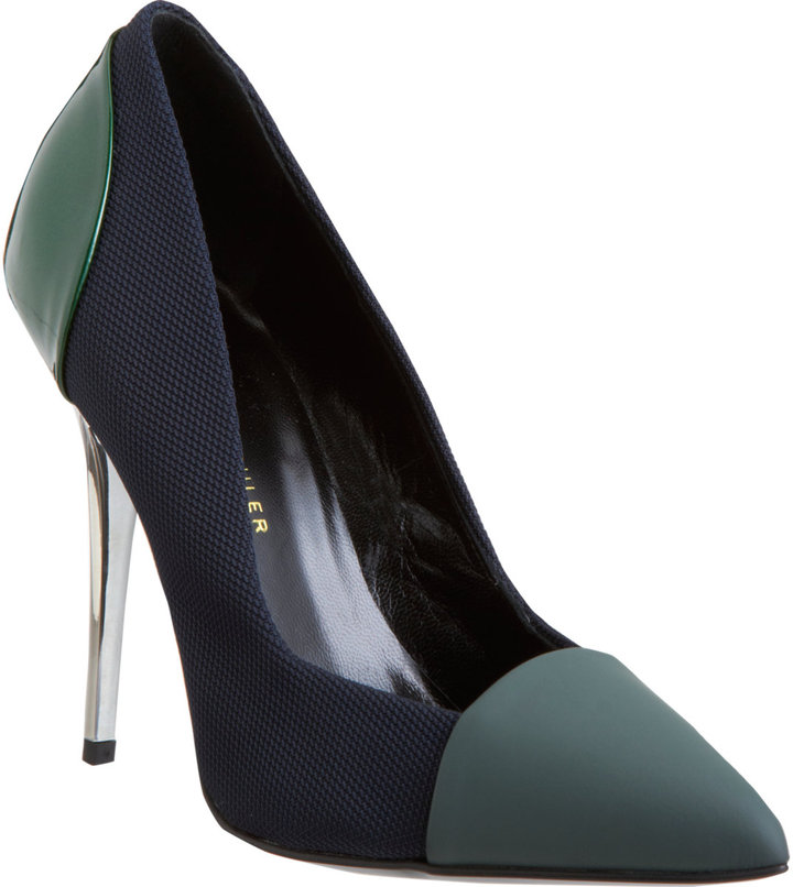 Proenza Schouler Combo Pointed Toe Pump