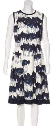 Carmen Marc Valvo Printed A-Line Dress w/ Tags