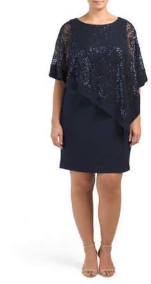 Plus Lace Poncho Dress