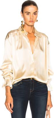Frame Silky Long Sleeve Top