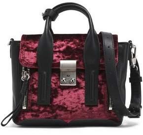 3.1 Phillip Lim Pashli Leather-Trimmed Crushed-Velvet Shoulder Bag