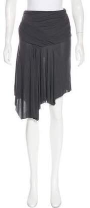 Helmut Lang Draped Knee-Length Skirt