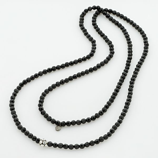 Simply Vera Vera Wang Jet-Tone Crystal Long Necklace