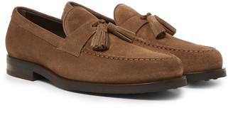 Tod's Suede Tasselled Loafers - Men - Brown