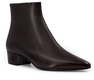 The Row Ambra Point-Toe Leather Ankle Boots