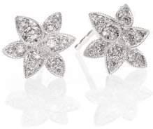 Kwiat Sunburst Diamond& 18K White Gold Petal Stud Earrings