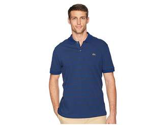 Lacoste Short Sleeve Regular Fit Petit Pique Polo w/ Fine Stripes