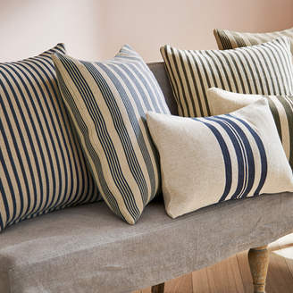 OKA Kyuu Outdoor Cushion Cover & Pad, Large - Multi Stripe