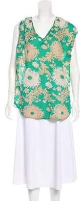 Tibi Floral Sleeveless Tunic