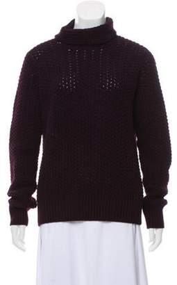 Loro Piana Cashmere Turtleneck Sweater Purple Cashmere Turtleneck Sweater