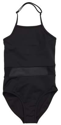 Zella Horizon Mesh Inset One-Piece Swimsuit