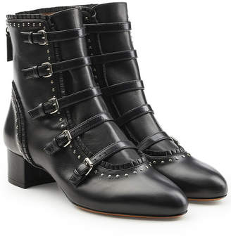Tabitha Simmons Anatoly Embellished Leather Boots