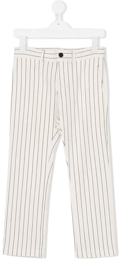 Amelia Milano striped straight-leg trousers