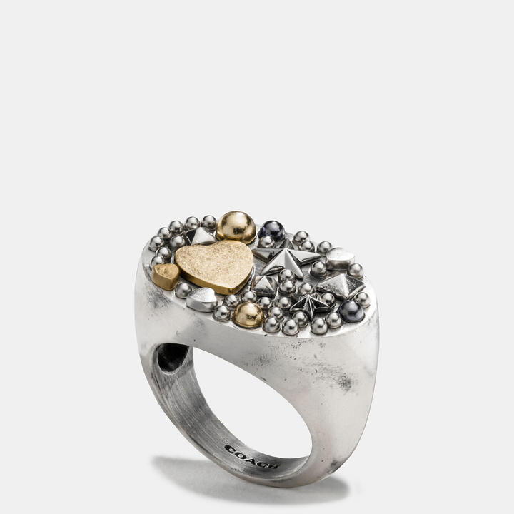 Coach   COACH Coach Studded Cluster Ring