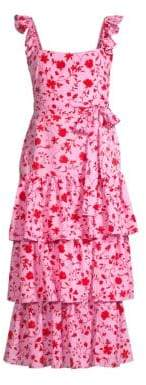 LIKELY Charlotte Floral Tiered Sleeveless Dress