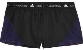 adidas by Stella McCartney Run Mesh-Paneled Shell Shorts