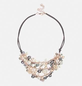 Avenue Grey Cord Bead Necklace