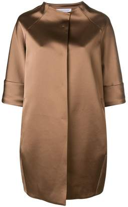 Gianluca Capannolo oversized cropped sleeve coat
