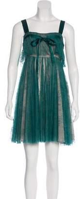 Galliano Lace Mini Dress