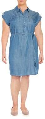Vince Camuto Cap Sleeved Denim Dress