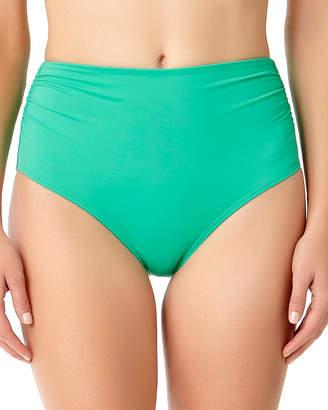 Anne Cole High-Waist Shirred Bottom