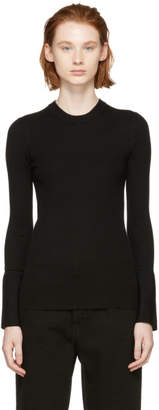 Proenza Schouler (プロエンザ スクーラー) - Proenza Schouler ブラック シルク カシミア クルーネック セーター