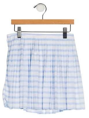 Ralph Lauren Girls' Striped Pleated Skirt