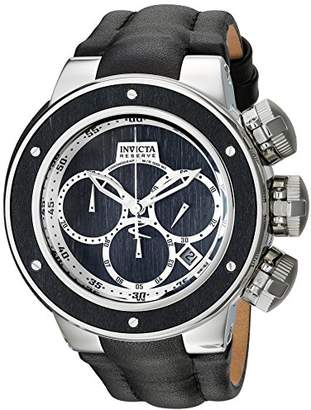 Invicta Men's 'Reserve' Quartz Stainless Steel and Leather Casual Watch