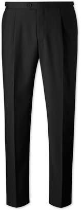 Charles Tyrwhitt Black Classic Fit Tuxedo Wool Pants Size W32 L32