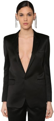 Saint Laurent VISCOSE SATIN BLAZER