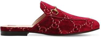 Gucci 10mm Princetown Gg Velvet Mules