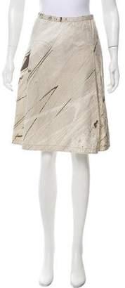 Dosa Printed Knee-Length Skirt w/ Tags