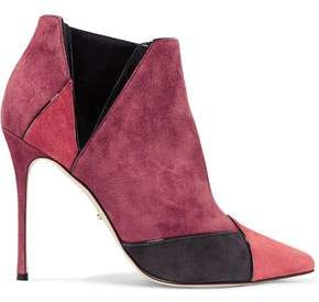 Sergio Rossi Paneled Suede Ankle Boots