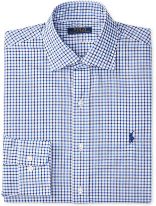 Polo Ralph Lauren Men's Classic-Fit Blue Check Dress Shirt $98.50 thestylecure.com