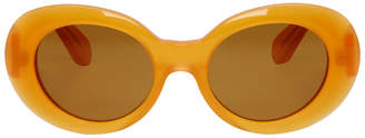 Acne Studios Orange Mustang Round Sunglasses