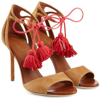 Malone Souliers Ida Suede Sandals with Tassels