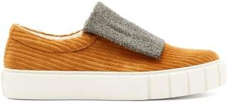 Primury - Curio Meta Corduroy Slip On Trainers - Mens - Multi
