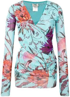 Fuzzi floral print blouse
