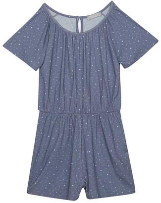 Mint Velvet Blue Star Jersey Playsuit