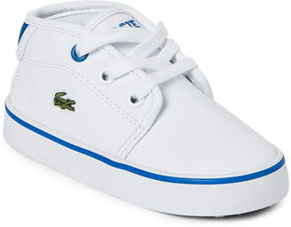Lacoste Toddler Boys) White & Blue Ampthill 116 Mid Sneakers