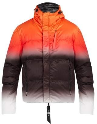 Kru - Statos Reversible Down Filled Hooded Jacket - Mens - Orange Multi
