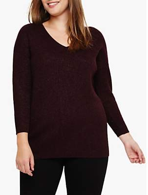 Studio 8 Ellen V-Neck Jumper, Port