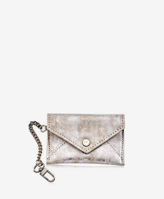GiGi New York Mini Envelope with Clip, Gold Brushed Metallic