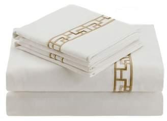 Natori Ming Fretwork White/Champagne Sheet